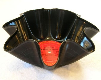 Bob Dylan Record Bowl Made From Repurposed Vinyl Album