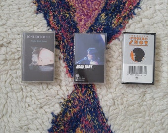 70s babes in folkland Joni Mitchell Joan Baez cassette tapes