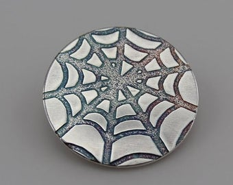 FLASH SALE Sterling Silver Discs with Cobweb pattern