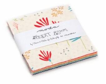 Moda Precut Cotton Quilt Squares Charm Pack DESERT BLOOM, (42) 5 inch Quilt Squares