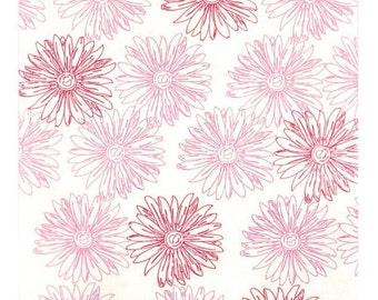 25 Pink & Red Flower Pattern Print Merchandise Paper Bags - 6  x 9 -  Merchandise, Gifts, Etc