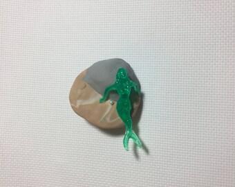 Mermaid on Island needle minder / needle nanny
