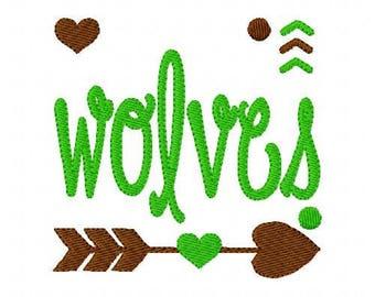 Wolves //Football// Machine Embroidery Design // Sports Embroidery Design // Mascot Embroidery Design //Embroidery Design//Joyful Stitches