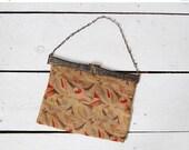 25% OFF SALE // vintage 1930s purse / 30s art deco purse / 1930s needlepoint bag / Delaunay purse