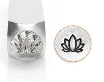 Metal Design Stamp-Lotus by Impressart-6mm-Steel Stamps-Metal Stamping Tool-Metal Supply Chick-Sc1514m6mm