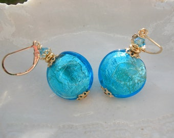 Blue Murano Glass Earrings- Exclusive