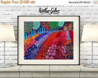 50% Off Today- Landscape Art Print Poster by Heather Galler (HG580)