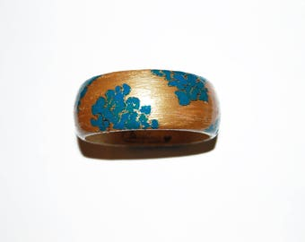 HANDPAINTED BRACELET-Wooden bangle