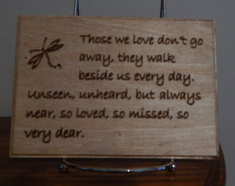 Dragonfly quote sign, Loved one remembrance plaque, Dragonfly sign with waying, Dragonfly poem