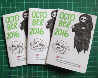 October 2016 Art Zine Sketchbook