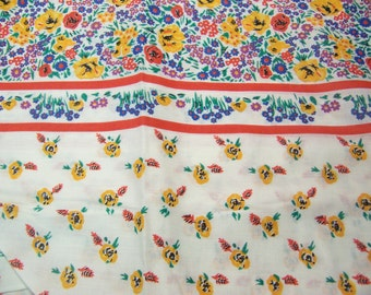 adorable borders with flowers fabric