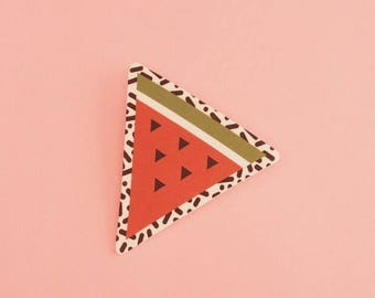 CLEARANCE Watermelon Brooch // Geometric Brooch // Tropical Brooch // Graphic Brooch // Shrink Plastic // Memphis Inspired Large