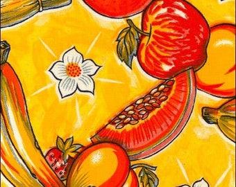 Round  Oilcloth Tablecloth Sugarcane Yellow