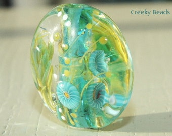 Handmade Lampwork Focal bead 'Turquoise Dream' Creeky Beads SRA