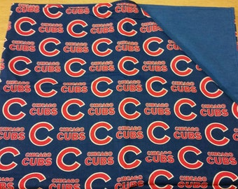 Chicago Cubs fabric baby blanket