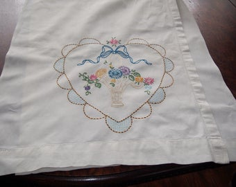Embroidered Curtains Vintage Hearts Flowers