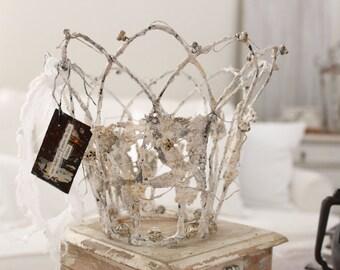 CROWN, French Wire-Work, decor, SEA Crown, Wedding Cake topper, Santos, Gypsy, New Orleans, Jeanne d Arc, ORIGINAL