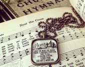 Jesus keep me near the cross hymn necklace
