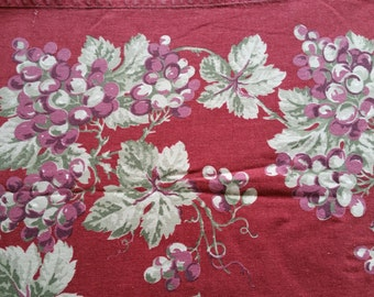 Wine Red Tablecloth Williams Sonoma cotton floral rectangle