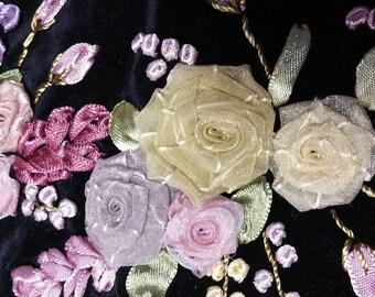 Ribbon Decorated Pillow cover velvet