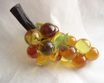 Vintage Lucite Yellow Grape Cluster