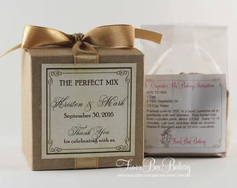THE PERFECT MIX - One Dozen (12) Wedding, Engagement Party, Bridal Shower Cupcake Mix Party Favors