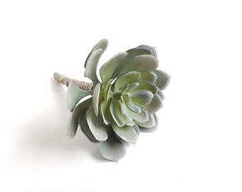 Small echeveria, faux succulent plant, fake succulent for arrangements, indoor succulent, gray
