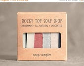 Clay Soap Sampler - All Natural Soap, Handmade Soap, Cold Process Soap, Unscented Soap, Vegan Soap, Clay Soap