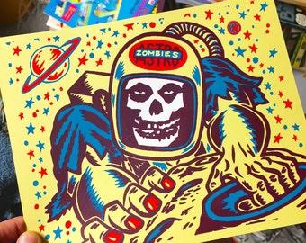 Astro Zombies Screen Print