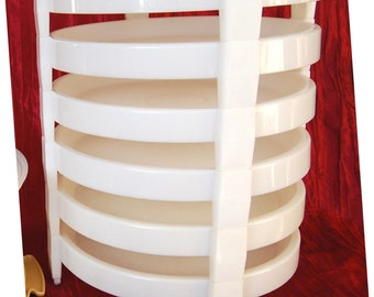 Vintage Tupperware Divide a Racks for Stacking Pies Inside Large Cake Carrier Tupperware Pie Stacking Racks