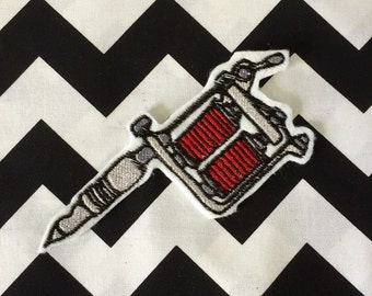 Tattoo machine sew on or iron on patch