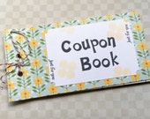 RESERVED Listing for Kari - Blank Coupon Book - Blank Tickets - Handstamped Gift - Anniversary Gift - Birthday Gift - For Him or For Her