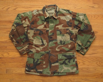 vintage woodland camo BDU coat