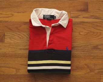 mens vintage Polo rugby shirt