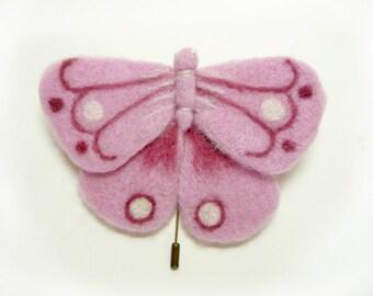 A felt brooch -  moth