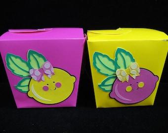 Pink Lemonade Party Favor Boxes, Kids Favor Container, Pink Lemonade Party Favor, Chinese takeout box, Favor Box - QTY. 8