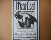 Magnet Meat Loaf Concert Poster Bat out of Hell II: Back into Hell Everything Louder World Tour