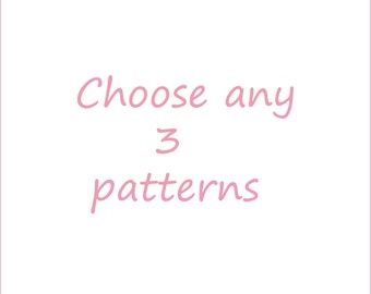 Choose any 3 embroidery patterns