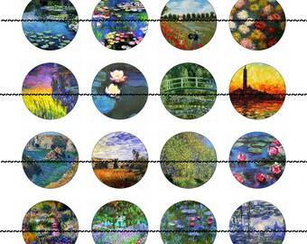 Art Magnets Pins, Monet Magnets, Party Favors, Fridge Magnets, Wedding Favors, Gift Sets