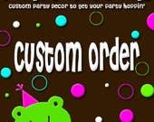 Reserved Custom Listing for Stephanie Silton - Sailboat Baby Shower