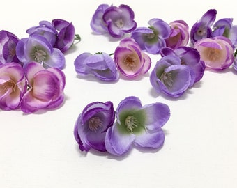 Artificial Flowers - 20 Artificial Mini Poppies in SHADES OF PURPLE - 1.5 Inches - Flower Crowns, Halos