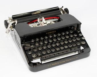 Vintage Smith Corona Typewriter Standard Manual Typewriter with Case Fully Serviced Working Typewriter
