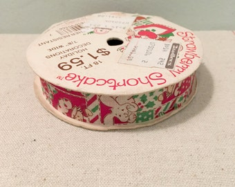 Vintage Strawberry Shortcake Christmas Ribbon