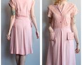 1950s Dress // Pink Manford Dress // vintage 50s dress