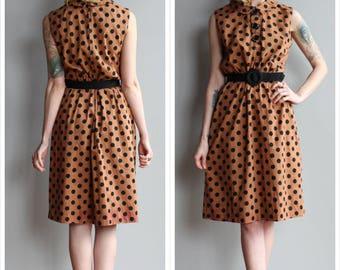 1950s Dress // Polka Dot Jerry Gilden Dress // vintage 50s dress