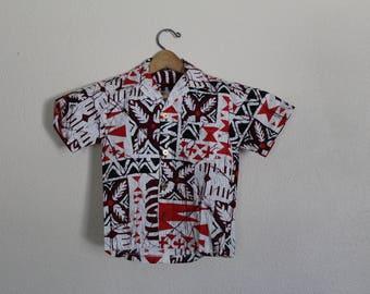Vintage Kids Hawaiian Shirt / Boys Vintage Hawaiian Shirt / Kids Vintage Hawaiian Shirt / Vintage Boys Hawaiian Shirt / Size 6