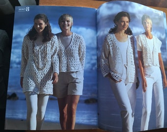 Hayfield Crochet in Dk No. 7121, 16 Fashions for Summer patterns 1990