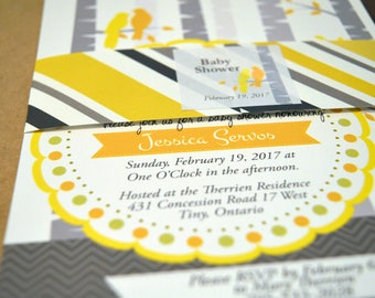 Printable Birch Tree Baby Shower Invitation