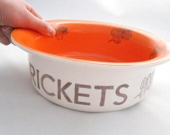 Custom Cat or Dog Bowl - Food or Water Bowl - Small/Large Size - Ceramic White Earthenware, 14 colored glaze options, dishwasher safe bowl