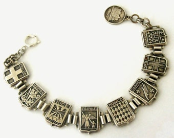Vintage art deco French Cote d'azur bracelet